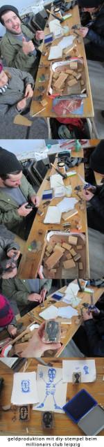 Preparation activity  for Schwarm.  stempel workshop in Leipzig at Millionaires Club 2014.